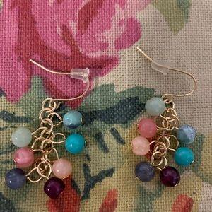 Multi-color Cascading Beads Earrings!
